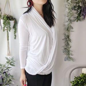 BAILEY44 NWOT wrap cardigan white knit 0229